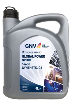 Моторное масло GNV Global Power Sport 5W-30 Synthetic C3 (4л)