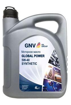 Моторное масло GNV Global Power 5W-40 Synthetic A3/B4 (4л)