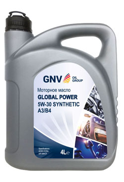 Моторное масло GNV Global Power 5W-30 Synthetic A3/B4 (4л)